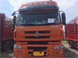 东风柳汽 乘龙M5 重卡 385马力 8X4 9.6米排半仓栅载货车底盘(LZ5312CCYM5FA)