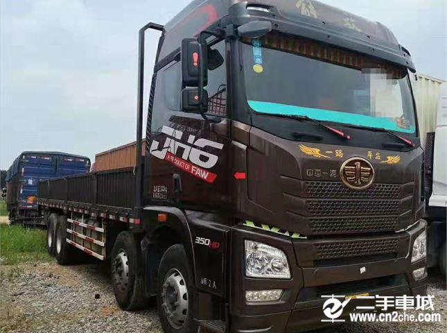 青岛解放 JH6 载货车 JH6重卡 350马力 8X4 9.5米载货车底盘