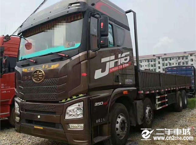青島解放 JH6 載貨車 JH6重卡 350馬力 8X4 9.5米載貨車底盤