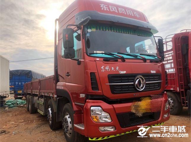 東風 天龍 350動力8X4平板車