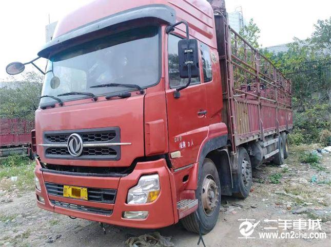 東風 天龍 載貨車 重卡 340馬力 8X4 前四后八  倉柵