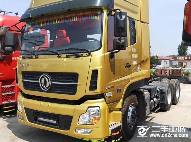 东风 天龙 出售二手牵引车启航版东风天龙 450马力 原车原版可挂靠分期