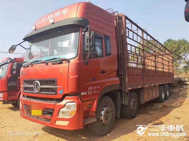 東風 天龍 載貨車 重卡 315馬力 8X4 前四后八  倉柵