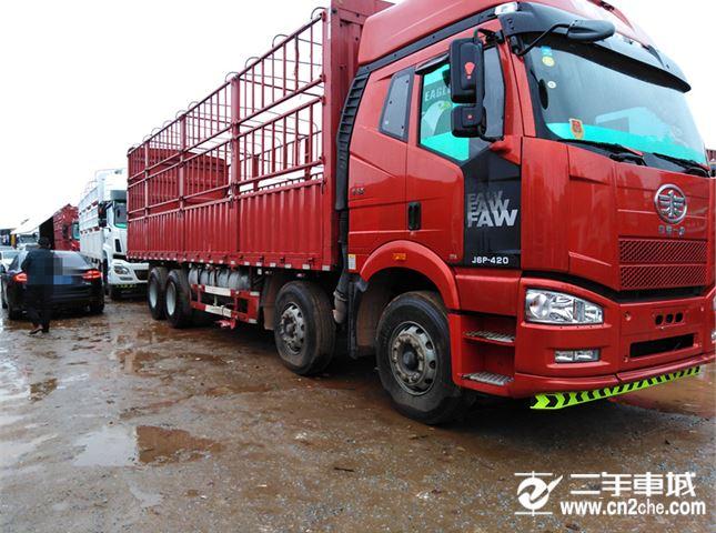 一汽解放 J6P 載貨車 重卡 420馬力 8×4 倉柵式 排半 載貨