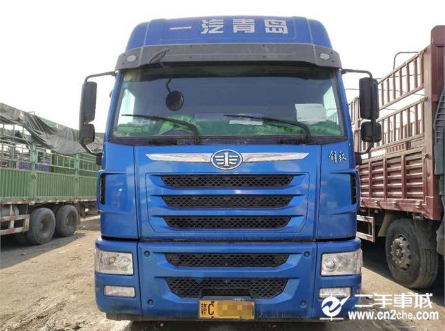 青島解放 途V 載貨車 重卡 350馬力 8X4 9.5米倉柵式載貨車(錫柴)