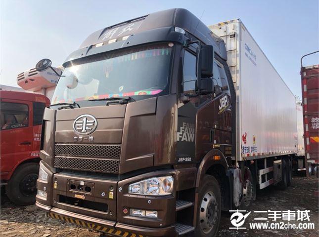 一汽解放 J6P 350動力8X4冷藏車