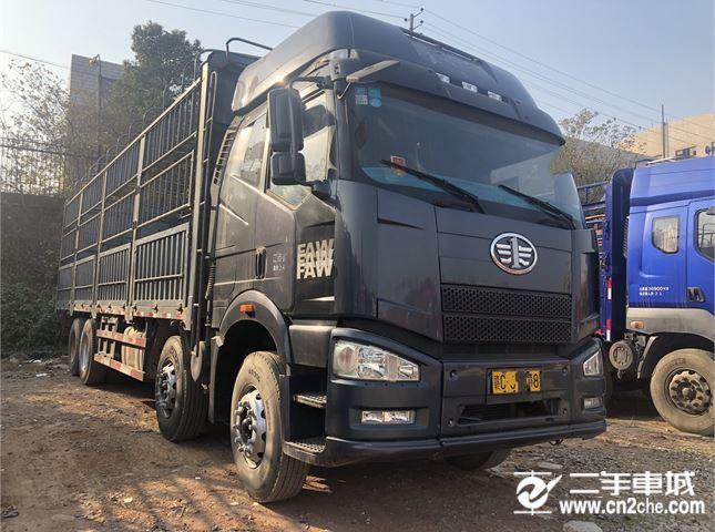 一汽解放 J6P 載貨車 重卡 2013款 310馬力 8X4 9.4米倉柵式載貨車(CA5310CCYP66K2L7T4E4)