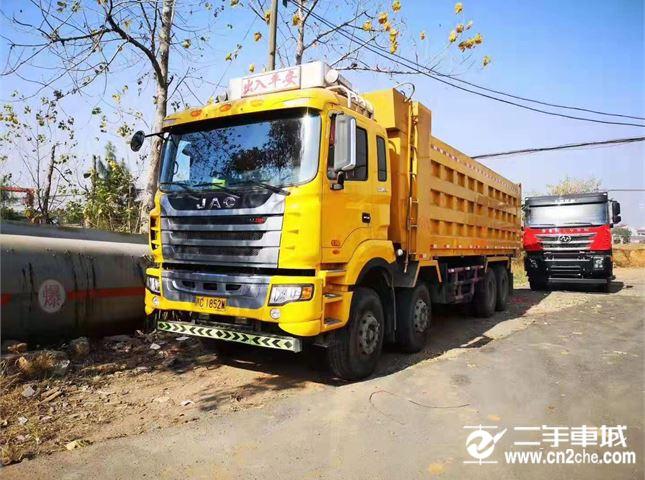 江淮 江淮格尔发K系列 400马力8.2米货箱前四后八自卸车