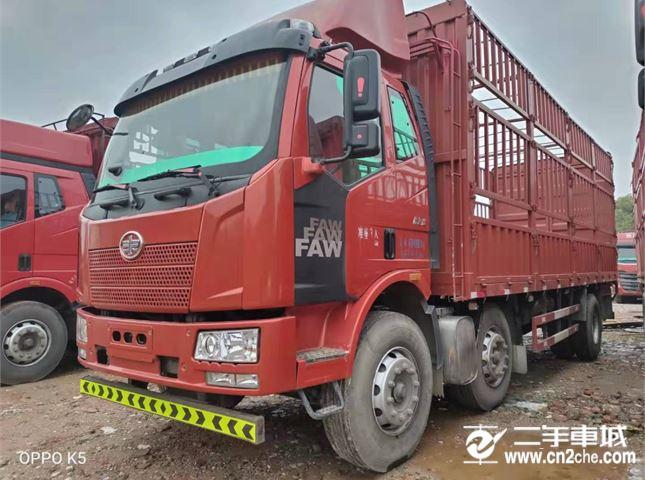 一汽解放 J6P 240馬力7.8米前四后四倉柵載貨車