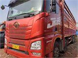 青島解放 JH6 載貨車 JH6重卡 350馬力 8X4 9.5米倉柵式載貨車
