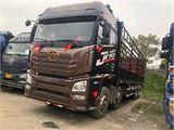 青島解放 JH6 載貨車 JH6重卡 420馬力 8X4 9.5米倉柵式載貨車