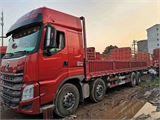 东风柳汽 乘龙H7 350马力9.6米前四后八平板载货车