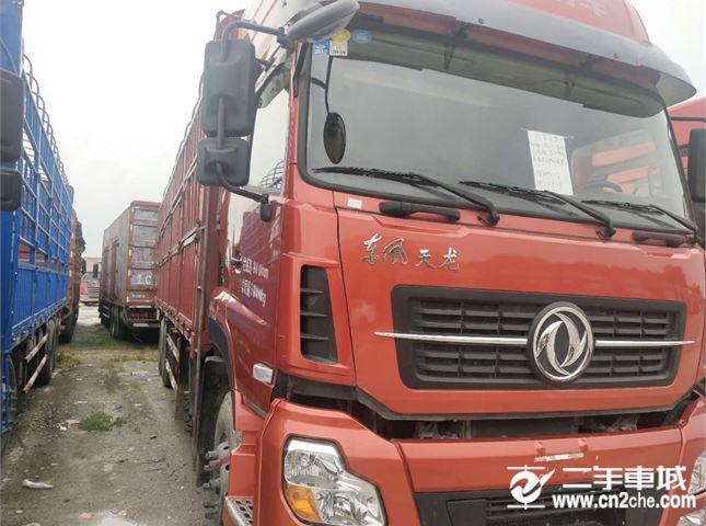 東風 天龍 載貨車 420馬力前四后八9.5米高欄車