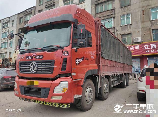 东风 天龙 340马力9.6米前四后八仓栅载货车