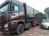 青岛解放 JH6 载货车 JH6重卡 350马力 8X4 9.5米仓栅式载货车底...