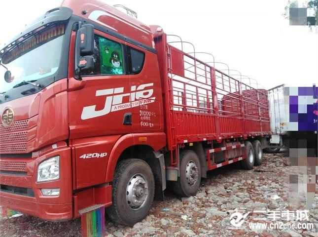 青島解放 JH6 載貨車 H6重卡 420馬力 8X4 9.5米倉柵式載貨車(3.727速比)