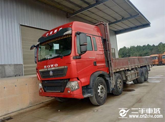 中國重汽 豪沃  T5G 豪沃前四后八340馬力,9.6米平板