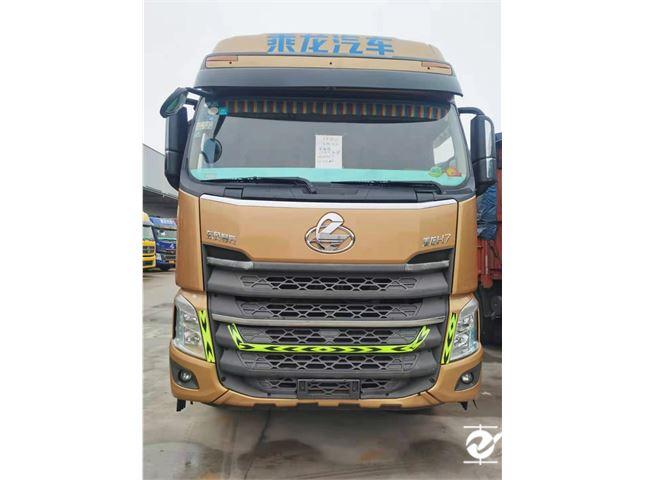 东风柳汽 乘龙H7 载货车 H7重卡 350马力 8X4 9.6米排半仓栅式