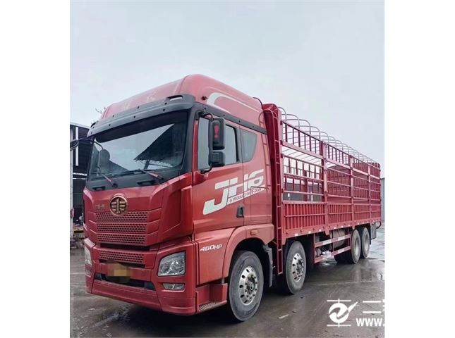 青岛解放 JH6 9.6米460马力前四后八仓栏式载货车