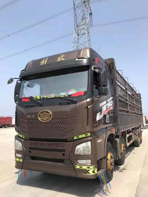 青岛解放 JH6 420马力8x4仓栏载货车