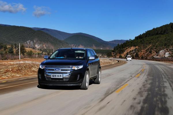 美式硬汉 pcauto试驾福特锐界edge高清图片